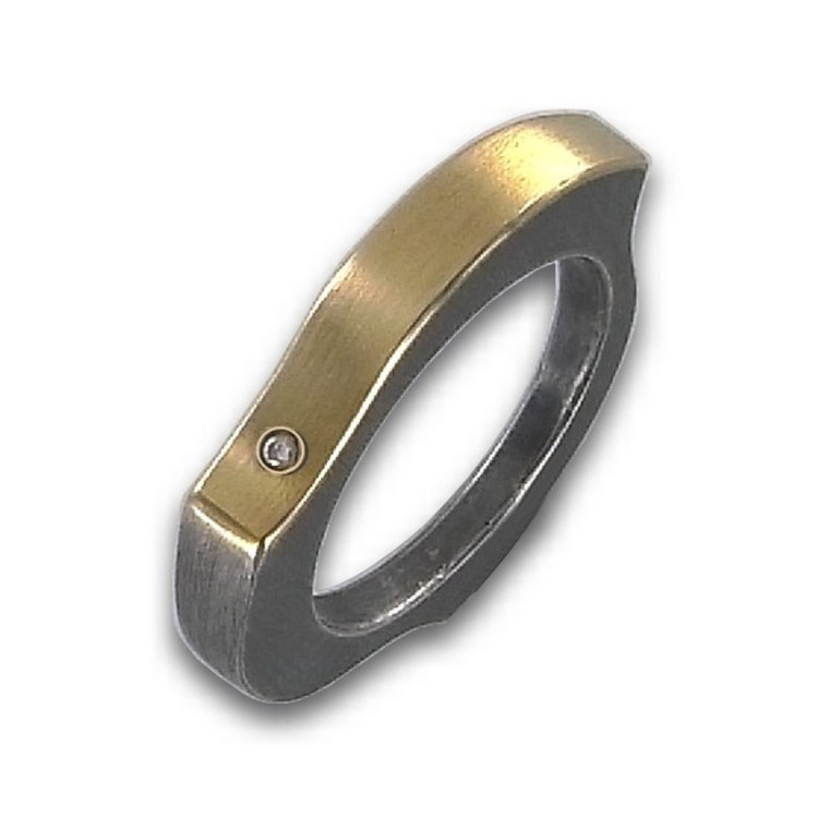 Ring 55 - bicolor - Sterlingsilber Brillant