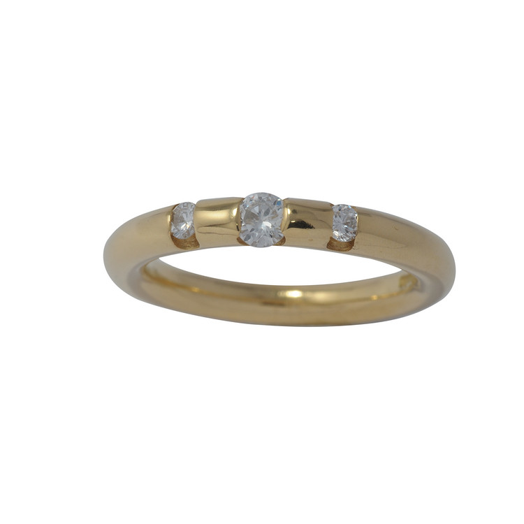 Ring 54 - Gelbgold 585 - Brillanten 0,26ct