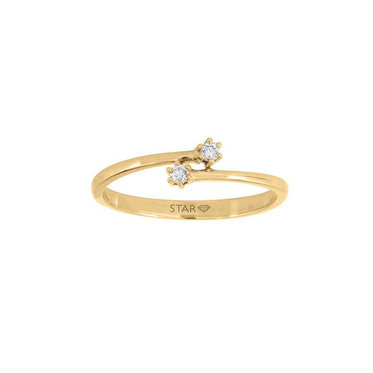 Ring 54 - gelbgold - Gold 585 14K Diamant 0,05ct