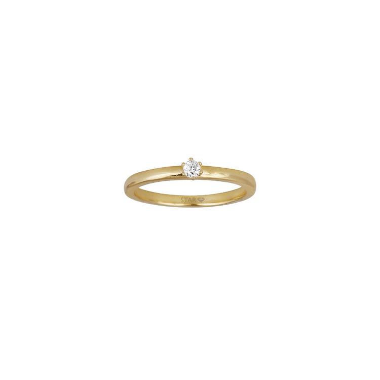 Ring 56 - Gold 585 14K - Diamant 0,04ct H si