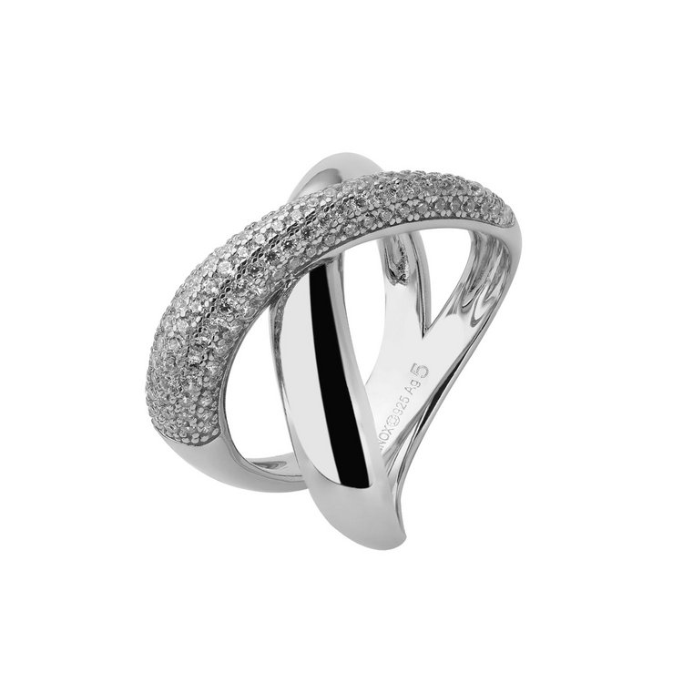 Ring 52-58 - Silk - Sterlingsilber - Zirkonia
