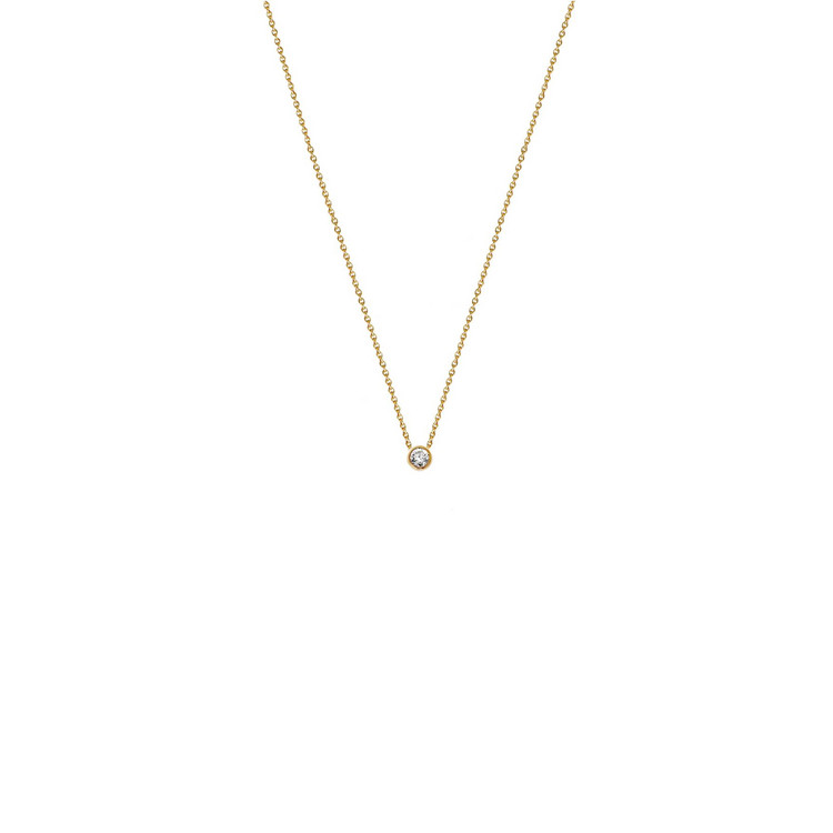 Collier - Gold 585 14K - Diamant 0,05ct H si