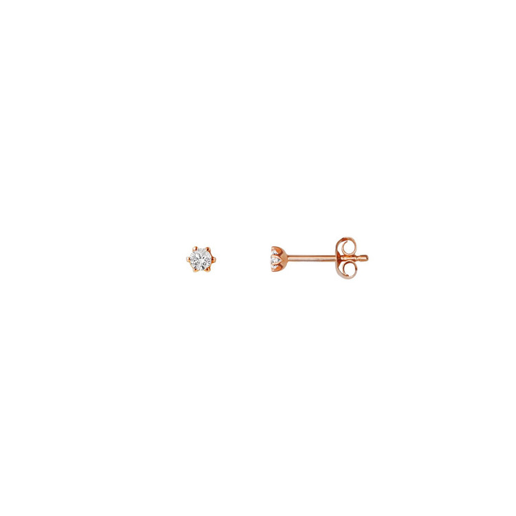 Ohrstecker - Gold 585 14K Diamant 0,06ct - rosé