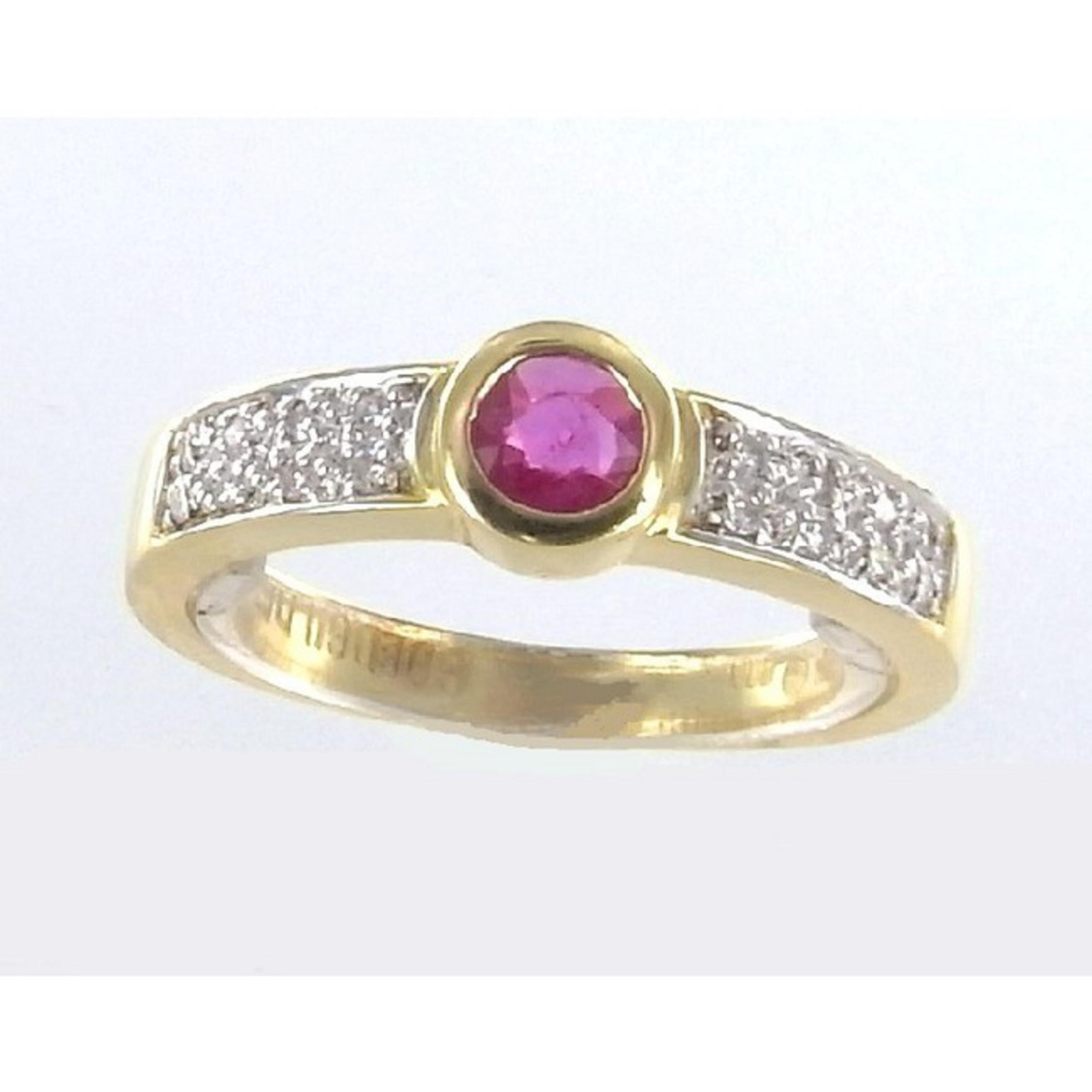 ring 56 goldfarben gold 585 14k rubin. Black Bedroom Furniture Sets. Home Design Ideas
