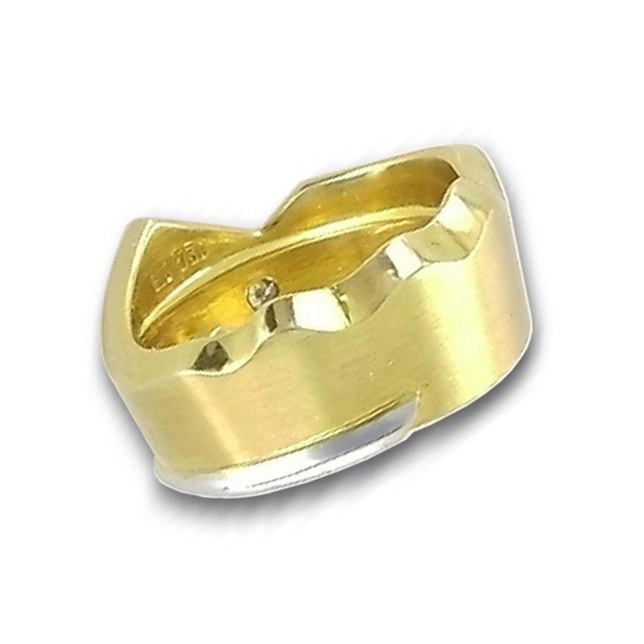 ring 53 golden gold 750 18k brillant 0 04ct. Black Bedroom Furniture Sets. Home Design Ideas