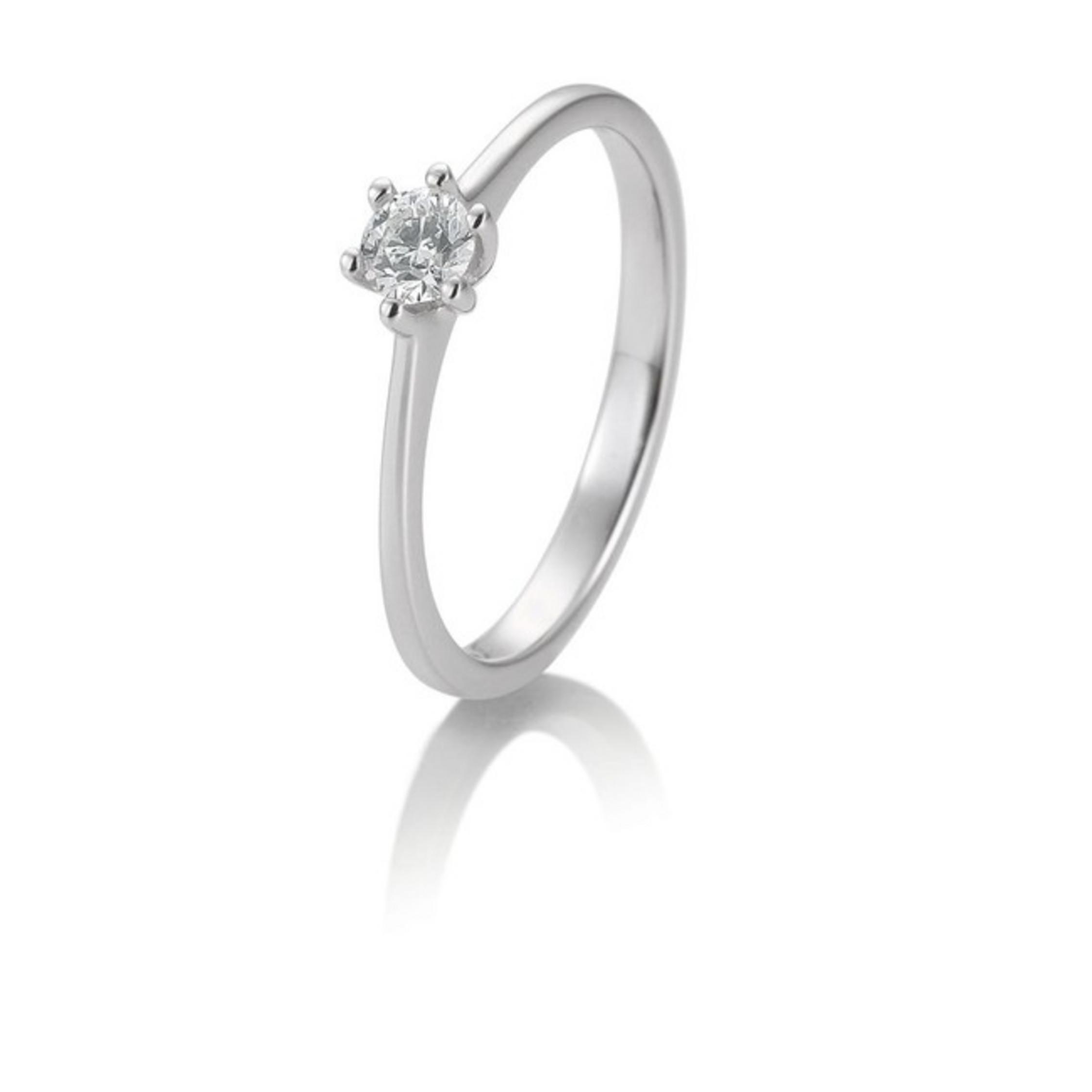 ring wei gold 585 14k brillant 0 1ct. Black Bedroom Furniture Sets. Home Design Ideas