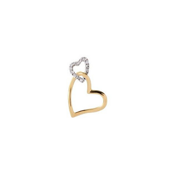 Anhänger - Gold 585 14K Diamanten 0,05ct - bicolor