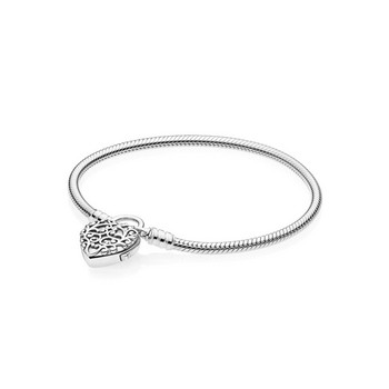 Armband - Sterlingsilber 18 - Mooth Silver Padlock
