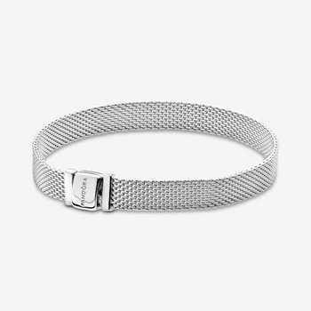 Armband 17 cm - Reflexions Mesh - Silber
