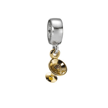 Bead - Sterlingsilber Gold 585 14K - Sektschale