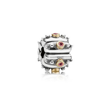 Bead - Sterlingsilber Gold 585 Zirkonia - Stopper