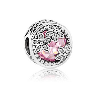 Bead - Sterlingsilber Zirkonia - Radiant Bloom