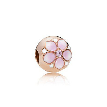 Bead - Pandora Rose - Clip Magnolia Bloom