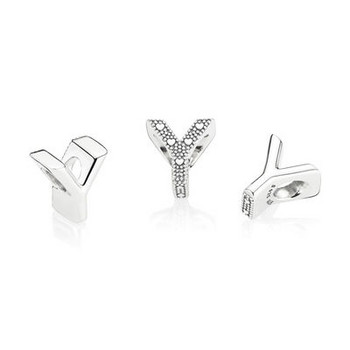 Bead - Silber - Charm letter Y