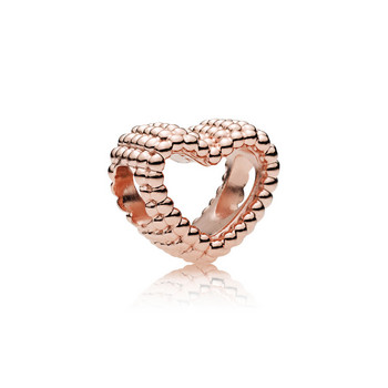 Bead - Pandora Rose - Charm Beaded Heart
