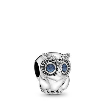 Bead - Silber - Charm Sparling Owl