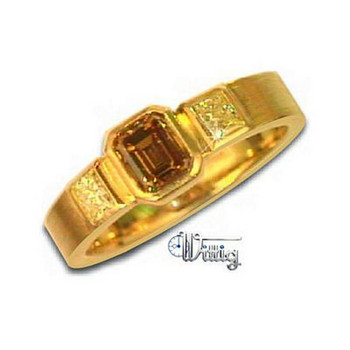 Ring 55 - Gelbgold 750 -  Diamant 0,335ct