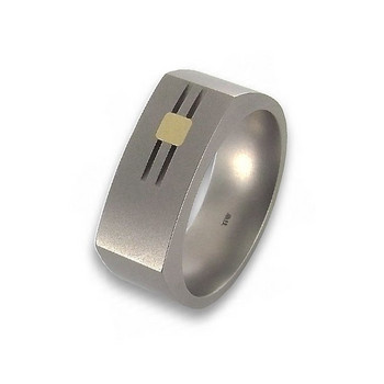Ring 62 - bicolor - Titan Gold 585 14K