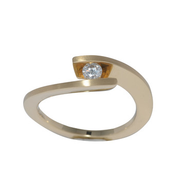 Ring 57 - Gelbgold 585 14K  - Brillant 0,15ct