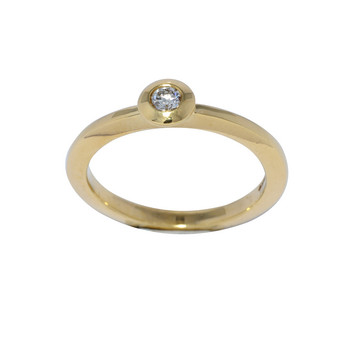 Ring 56 - Gelbgold 585 - Brillant 0,11ct