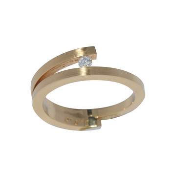 Ring 55 - Gelbgold 750 - Brillant 0,07ct