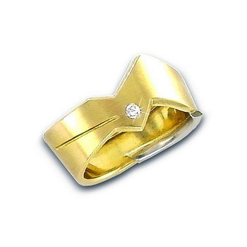 Ring 53 - Gelbgold 750 - Brillant 0,04ct