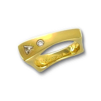 Ring 53 - Gelbgold 750 - Diamant 0,165ct - Design