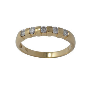 Ring 60 - Gelbgold 750 - 5 Brillanten 0,30ct