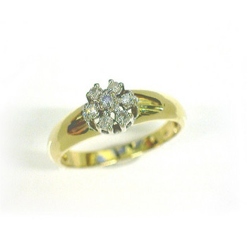Ring 56 - Gelbgold 585 - Brillanten 0,10ct
