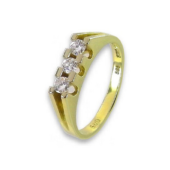Ring 56 - goldfarben - Gold 585 14K Brillant