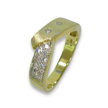 Ring 55 - golden - Gold 585 14K Brillanten 0,15ct