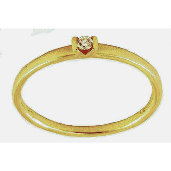 Ring 56 - Gold 585 14K Brillant 0,04ct - golden