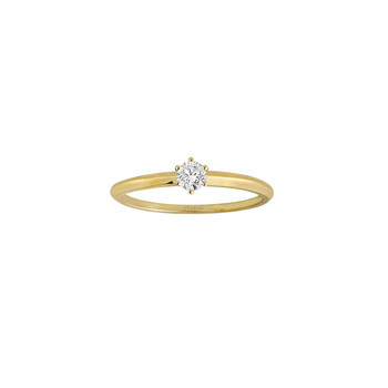 Ring 54 - Gelbgold 585 - Solitaire -Diamant 0,15ct
