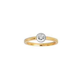 Ring 54 - Gold 585 bicolor - Diamant 0,20ct