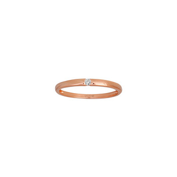 Ring 54 - Gold 585 14K Diamant 0,03ct - rosé