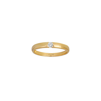Ring 54 - goldfarben - Gold 585 14K Diamant 0,03ct