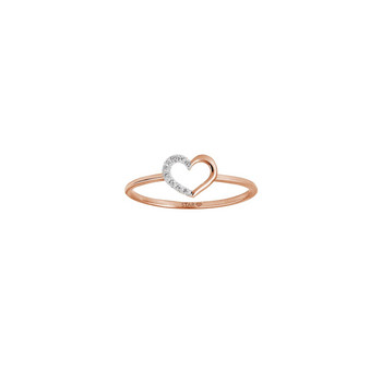 Ring 54 - rosé - Gold 585 14K Diamant 0,035ct