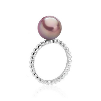Ring 58 - Silber - Ming Zuchtperle apricot