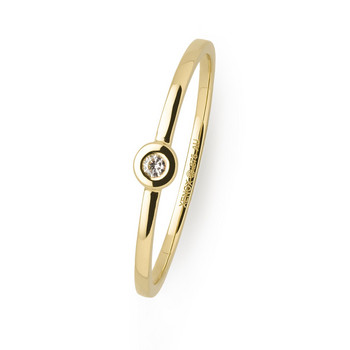Ring 56 - Gelbgold 375 - Diamant 0,02ct