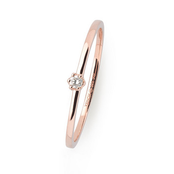 Ring 52 - Roségold 375 - Diamant 0,03ct
