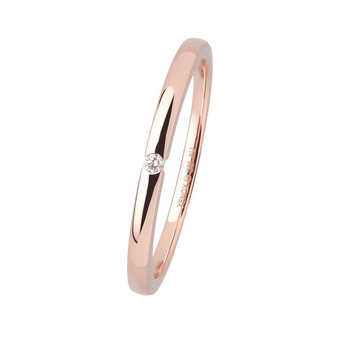 Ring 52 - Roségold 375 zart - Diamant 0,015ct