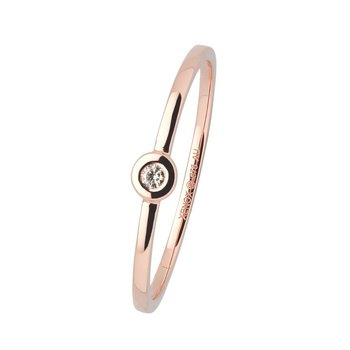 Ring 54 - Roségold 375 - Diamant 0,02ct - Zarge