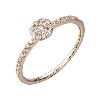 Ring 54 - 585 Gelbgold - Brillanten 0,21ct