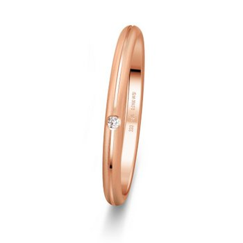 Ring 53 - Roségold 333zart - Diamant 0,010ct