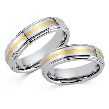 Partnerringe - Tungsten Gold 585 14K - bicolor