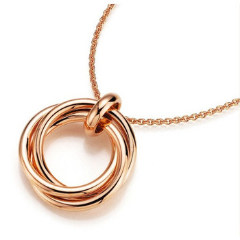 Collier - Sterlingsilber - Circles - rosé