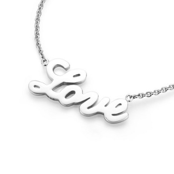 Collier - Sterlingsilber - Love - silberfarben