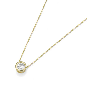 Collier - Gold 375 9K Zirkonia - Anker 45 - gold