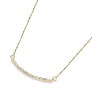 Collier - Gold 375 9K Zirkonia - goldfarben