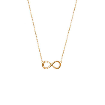 Collier - Sterlingsilber - Infinity - goldfarben